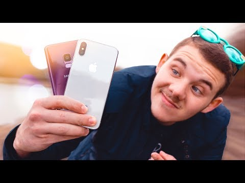 Apple iPhone X vs Samsung Galaxy S9 !