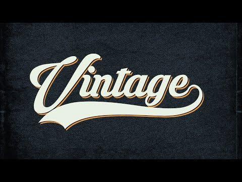 Crear Estilos De Texto Vintage - Curso De Photoshop Para Principiantes