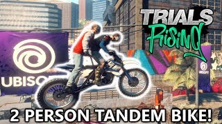Trials Rising - 2 Person Tandem Bike Gameplay! (Co-op w/ Professor Fat Shady) from E3 2018