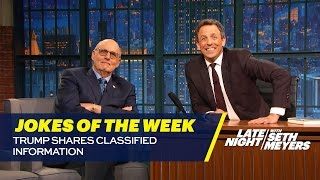 Seth's Favorite Jokes of the Week: Trump Shares Classified Information thumbnail