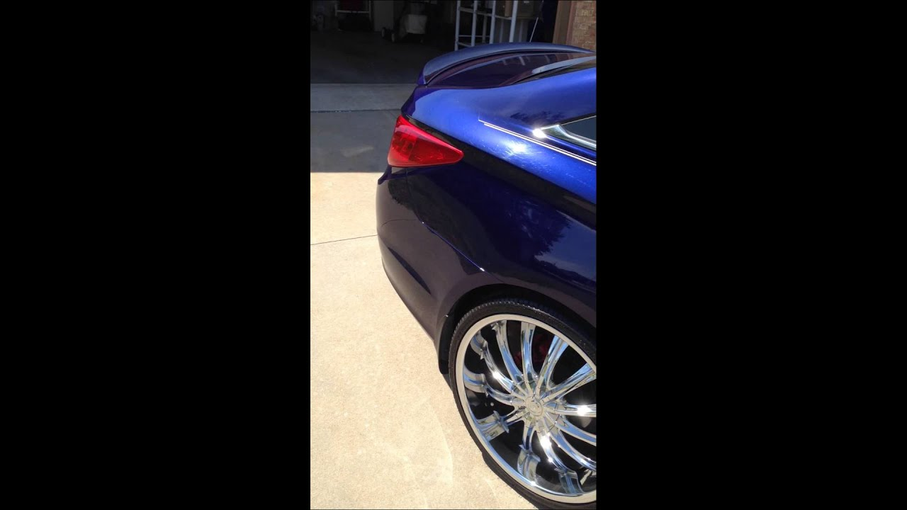 Hyundai Sonata With Rims 22 Youtube