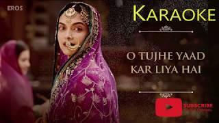 Aayat - Karaoke + Lyrics + Instrumental - Arijit Singh - Bajirao Mastani
