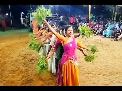 Tamil Record Dance 2019   Latest tamilnadu village aadal paadal dance   Indian Record Dance 2019 344