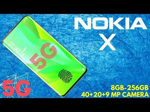 Nokia X - 40 MP Camera, 5G Network, Android 9.0, Under Display Fingerprint Scanner