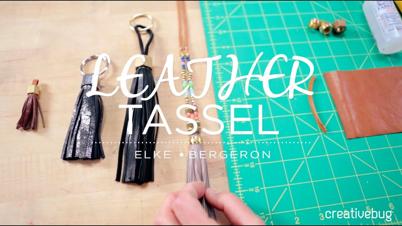 Free Technique Monday How To Make A Leather Tassel Creativebug Blog