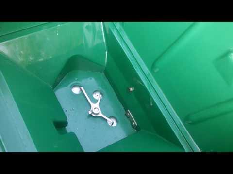 Permagreen Breakthru Agiator install in a Brand New Lesco 80 lb stainless steel push Spreader