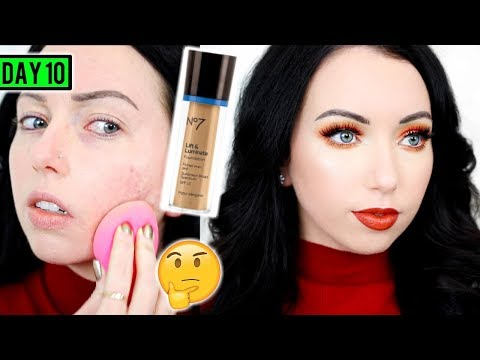 No7 LIFT & LUMINATE FOUNDATION [First Impression Review & Demo] 15 DAYS OF FOUNDATION