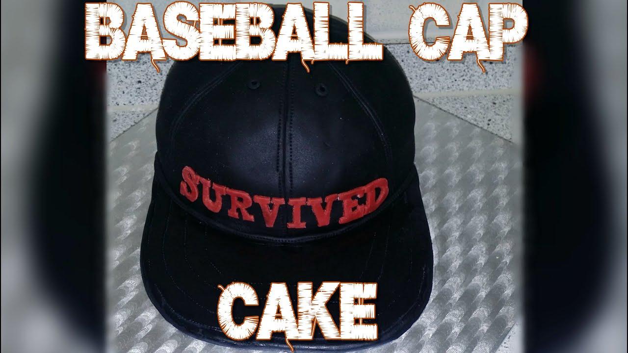 44d8dc15984 How To Make A Baseball Cap Cake - YouTube
