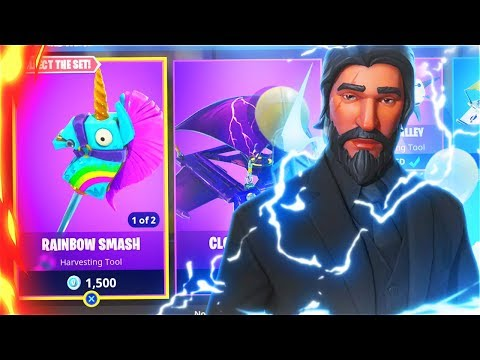 New RAINBOW SMASH Victory Royale! SQUADS With My LITTLE BROTHER In Fortnite! (New Skins Update) thumbnail