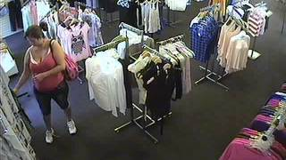 shoplifting caught on tape
