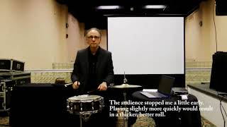 Playing and Teaching the Buzz Roll (Workshop Excerpt: NYSSMA Convention 2017)