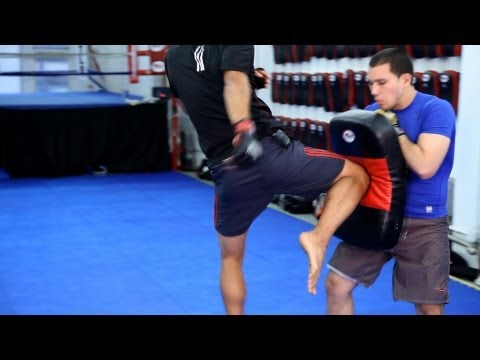 How to Set Up the Flying Knee Technique | MMA Fighting