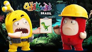 Oddbods   PARQUE DOS DINOSSAUROS   Desenho Animado Divertido Para Crianças