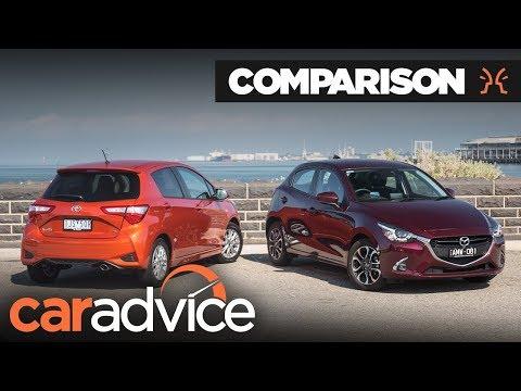 Toyota Yaris v Mazda2 Comparison   CarAdvice