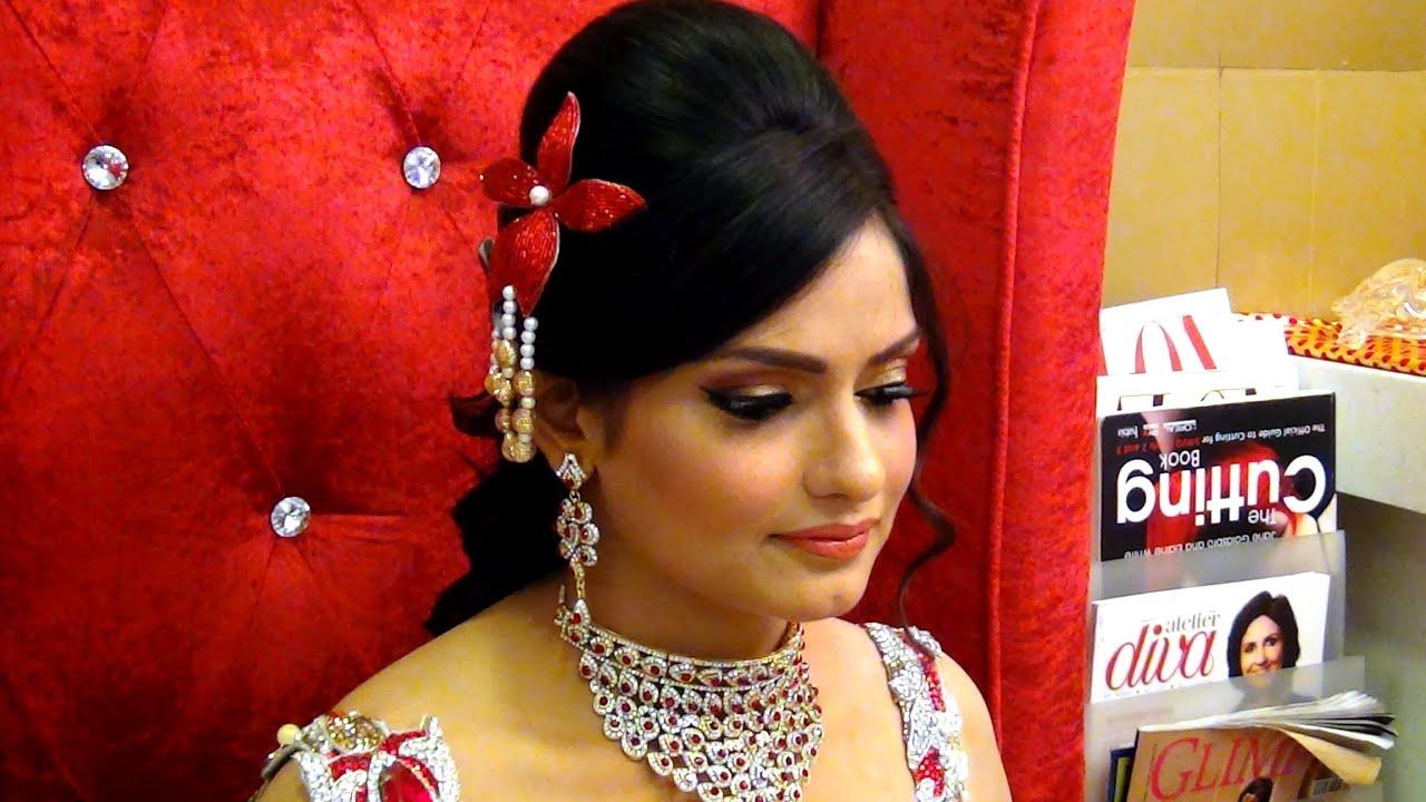 indian wedding makeup - makeup for engagement - glamorous look