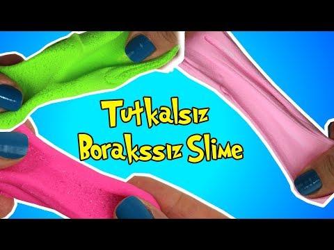 2 Malzemeli Slime Challenge!!   Tutkalsız Borakssız Slime Deneyi   Bidünya Oyuncak