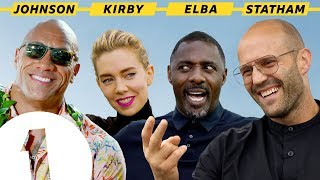 """I'm Black Superman!"": The Rock, Jason Statham, Idris Elba and Vanessa Kirby on Hobbs & Shaw"