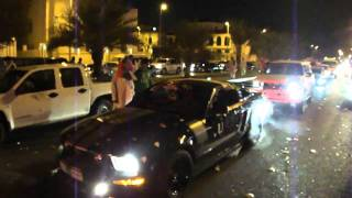 Mustang GT burnout on UAE National Day 2010