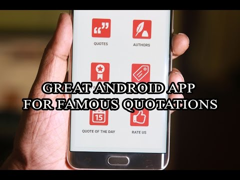 Great Android App for Famous Quotations