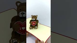 Teddy love 3D little greeting