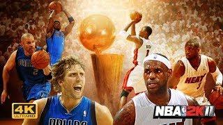 NBA 2K11 : Dallas Mavericks vs. Miami Heat  | 4K | PC Gameplay