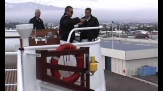 Leaving Akureyri, Iceland, on the MV Discovery
