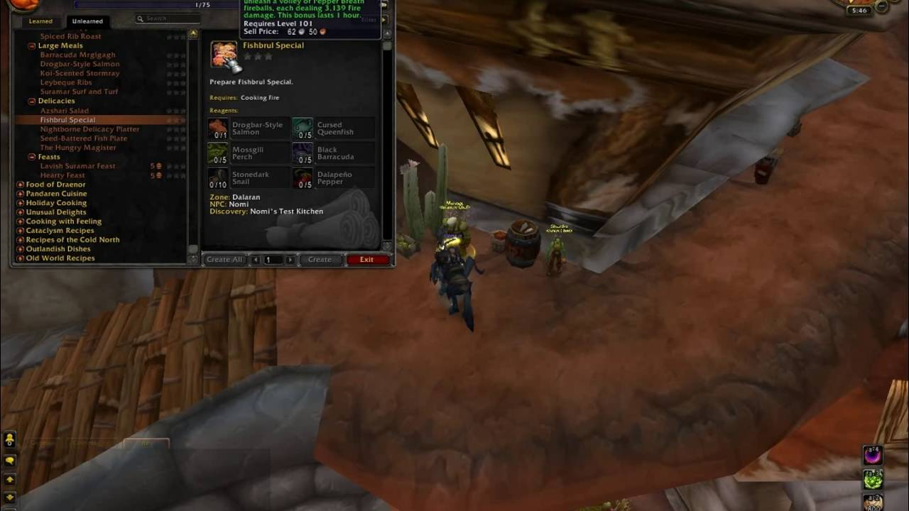 Legion cooking food of the broken isles youtube forumfinder Images