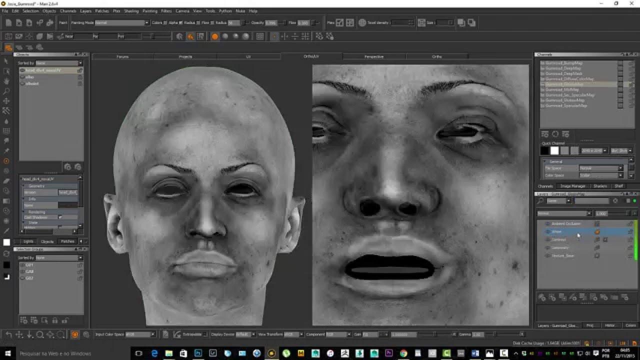 Paint Realistic Skin Texture Using MARI YouTube