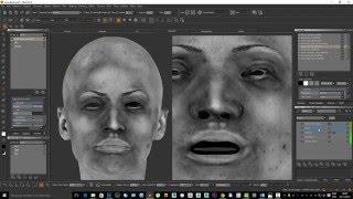 Paint Realistic Skin Texture Using MARI