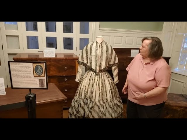 Cathy Baty talking about the 1850 Shriver Dress August 2021