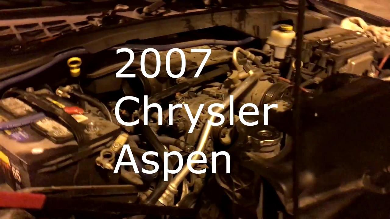 how to replace alternator in 2007 chrysler aspen