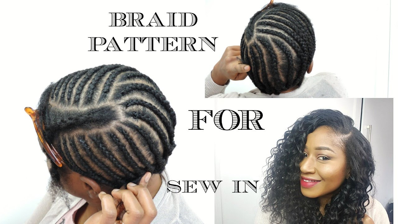 BRAID PATTERN FOR SEW IN WEAVE DIY YouTube - Diy braid pattern