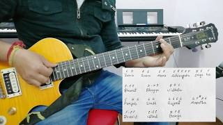 Indian National Anthem  Jana Gana Mana  Super easy guitar lesson  Cmajor scale  part 1