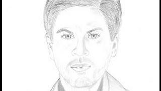 Drawing Shahrukh Khan