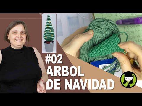 Arbol de navidad tejido a crochet 02 ABETO NAVIDEÑO AMIGURUMI