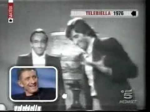 Angelo Laganà insieme ad Ezio Greggio a Tele Biella