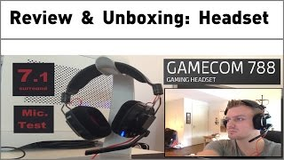 Plantronics Gamecom 788 with 7.1 Surround sound Gaming Headset & Mic Test [Unboxing & Review]