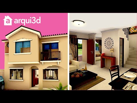 Casa 3d ejemplo fachada trazzos g doovi for Casa minimalista guayaquil