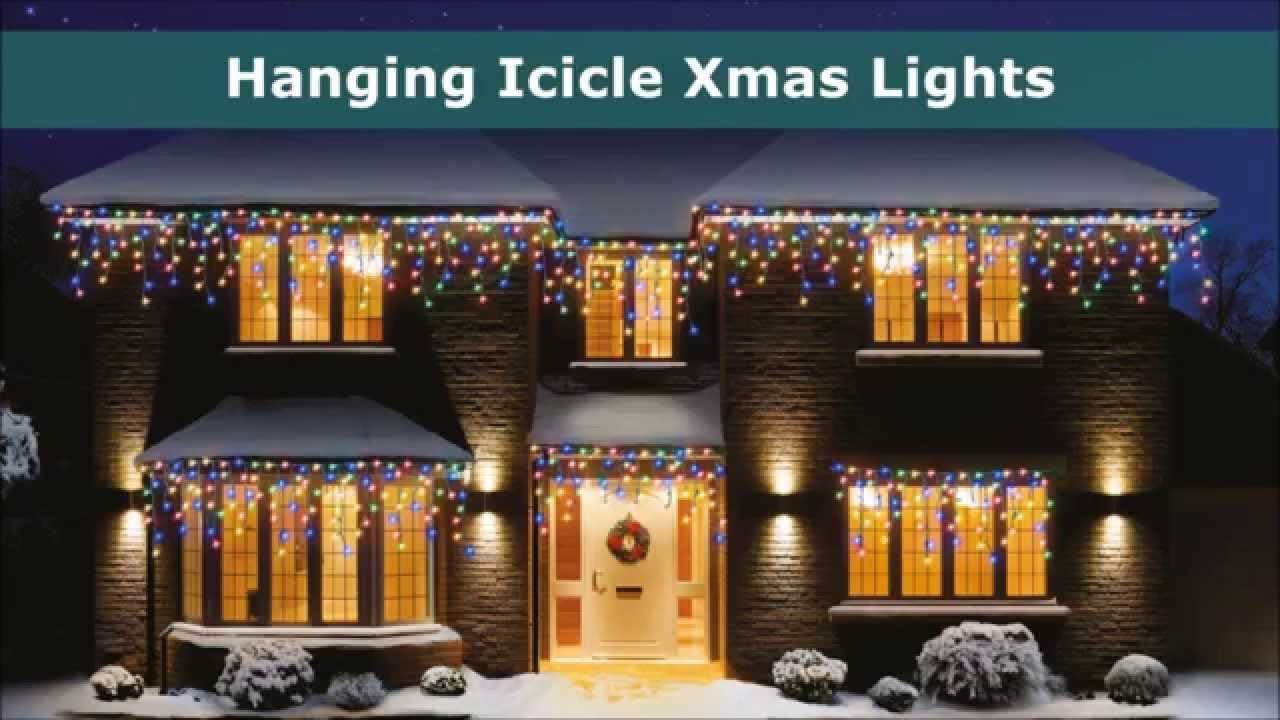 outdoor christmas lights icicle led and supabright xmas lights youtube
