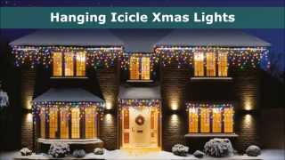 outdoor christmas lights icicle led and supabright xmas lights