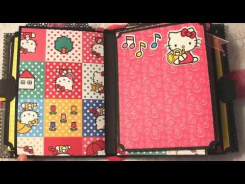 HELLO KITTY premade scrapbook album by luv2scrap*4fun on ebay