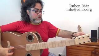 The way Paco de Lucia tuned /Learn tuning in 5 steps / Modern Flamenco guitar / Ruben Diaz Spain