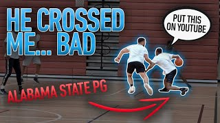 I Got CROSSED Bad By A D1 Point Guard.. SO I Went CRAZY ! (Mic'd Up 5v5)