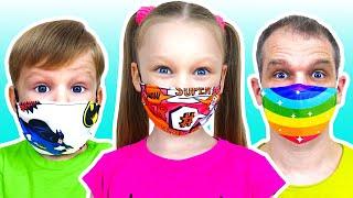 Лиза и песенка для детей - Носи свою маску | Wear your mask song with Lisa