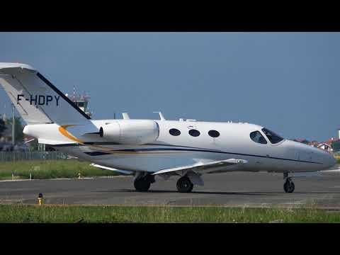 Cessna 510 Citation Mustang (F-HDPY) RWY04 takeoff San Sebastian (EAS/LESO)
