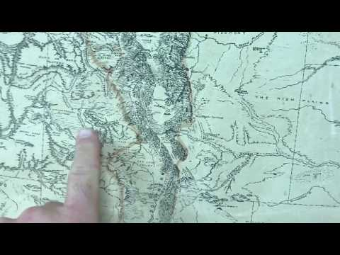 Historical physiographic map of the USA - YouTube