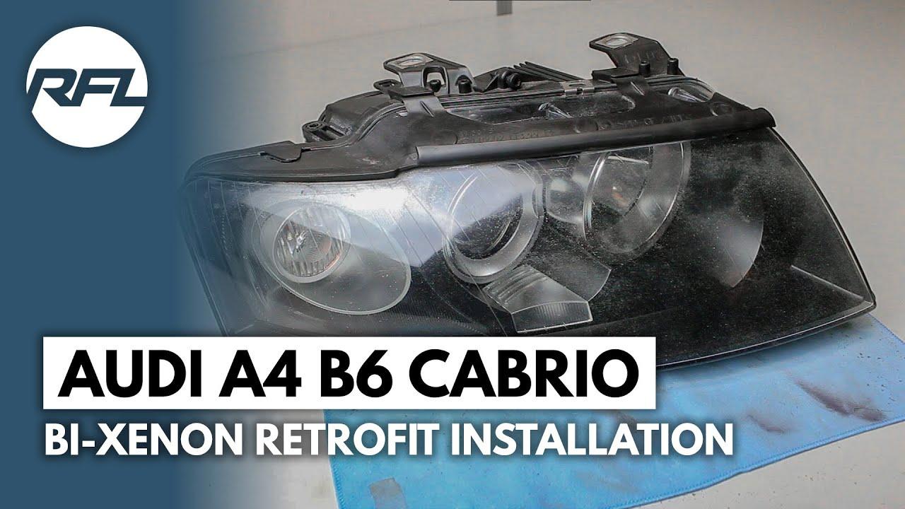 Audi A4 B6 Convertible Cabrio Bi Xenon Retrofit Projector