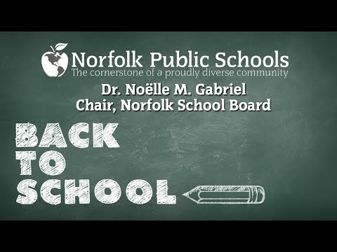 Welcome back to school message from Dr. Noëlle M. Gabriel