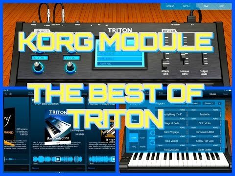Korg MODULE, TRITON Best Of Sound Pack, BIG Soundtest for iPad