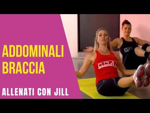 jill cooper esercizi addome braccia 2 allenamento